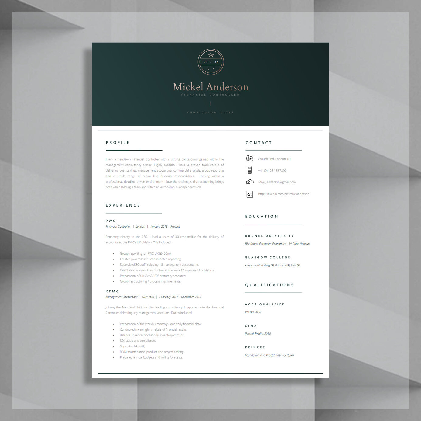 Finance CV Template / Accountancy CV Template / Modern CV Template and  Cover Letter Template + Advice | "|1386|1384|?|cba615eff7e8351cc178bdcc33f4c529|False|UNLIKELY|0.3218259811401367