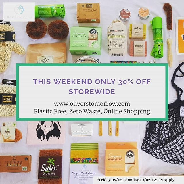 This weekend at least 30% off everything storewide @oliverstomorrow . Swing by, grab a deal, make a change.🌴🌴🌴 . Free shipping for all orders over $50 Australia wide. . #oliverstomorrow #eco #plasticisntfantastic #plasticfree  #ecofriendly #ecoshopping #shoppingforthefuture