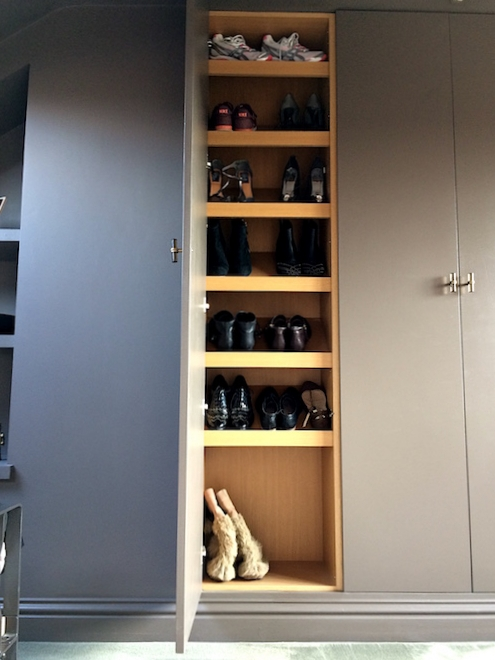 Our plan B was a shoe cupboard - yay!