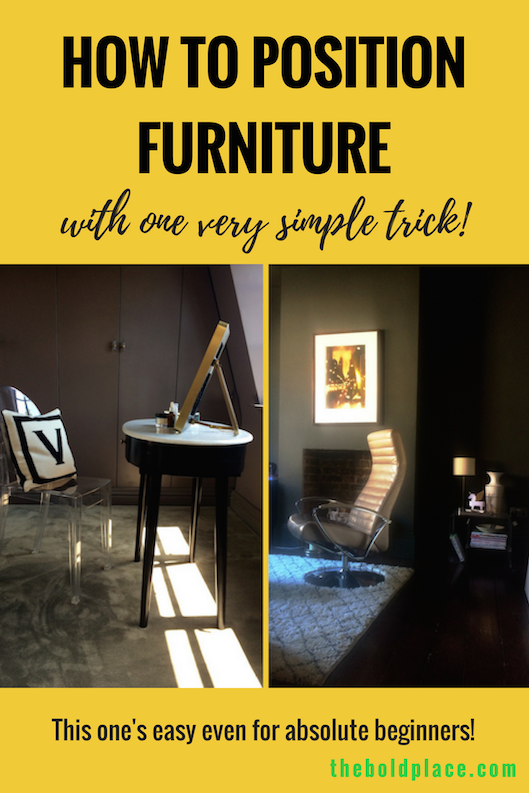Pin this for later. How to position furniture with one very simple trick!