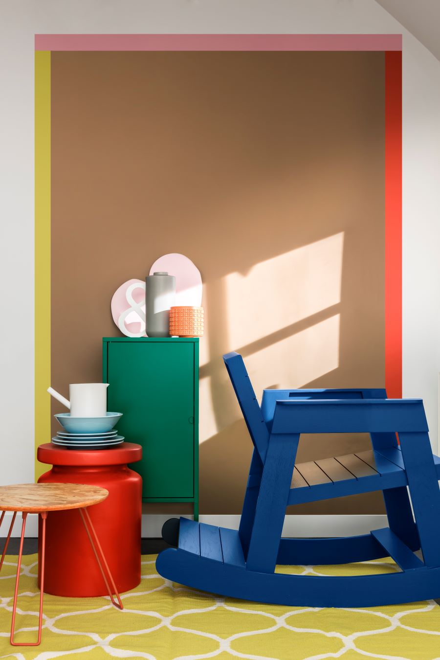 Accents that could work in a playroom -  Dulux Spiced Honey