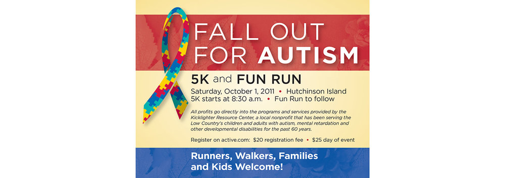 Fall Out for Autism Postcard