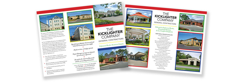 The Kicklighter Company trifold brochure