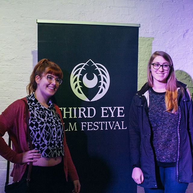 """Legs"" Director Madeleine Hicks with Producer Ellen Weber at Third Eye Film Festival 2018. Photography by @yooneytunes  #filmfestival #teff2018 #thirdeyefilmfestival #womeninfilm #indiefilm #horror #fantasy #spiritual"
