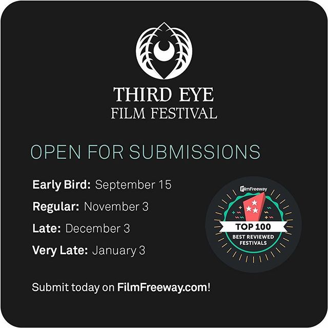 SUBMISSIONS OPEN! REG DEADLINE ENDS NOV 3. Submit your film to us today on @filmfreeway! #filmfestival #genrefilm #occult #horror #fantasy #spiritual  #indiefilm #genrefilmmaking #womeninfilm #femalefilmmakers