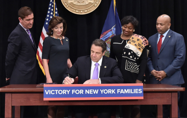 Governor Cuomo of New York signed $15 minimum wage into law on April 4, 2016