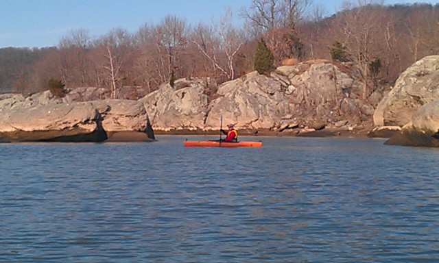 Kayaking Lock 12 on the Susquehanna River, in PA, back in 2011.