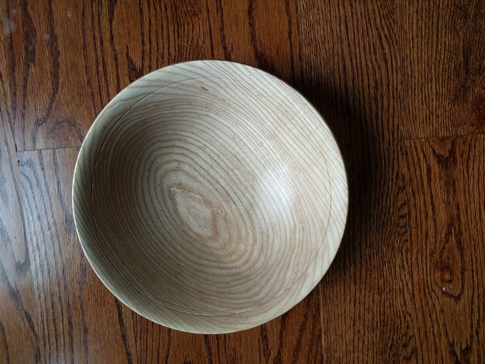 handmade wood decor fruit and veggie holder woodworking home American White Ash Bowl, Wood Bowl, Kitchen Decor, Fruit Bowls, Wooden  Bowls Handmade, Woodworking Gifts, Anniversary Gift, Art.211