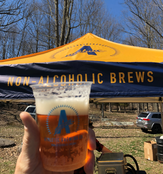 Run Wild IPA at the Enchanted Forest Trail Ultra in April 2018.
