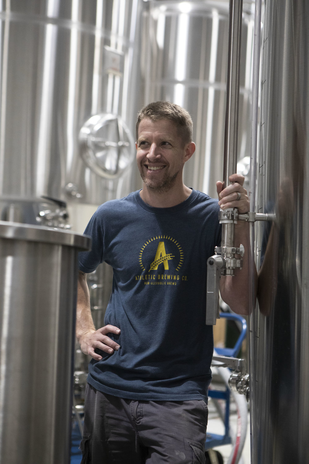 John: Head Brewer - Co-founder of Athletic and a talented head brewer who took the leap from a great brewpub in Santa Fe (where he was highly awarded) to take on the intellectual challenge of solving non-alcoholic beer. John's palette is the basis for all recipe decisions.