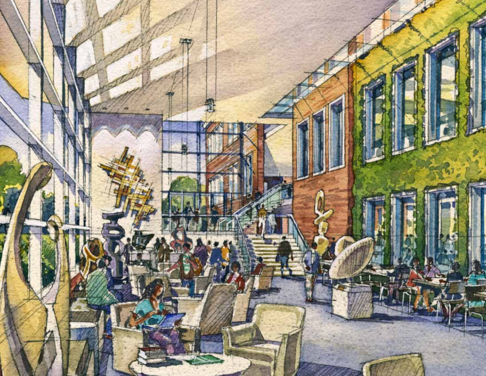 HOK rendering…schematic design phase for Butler University School of Education