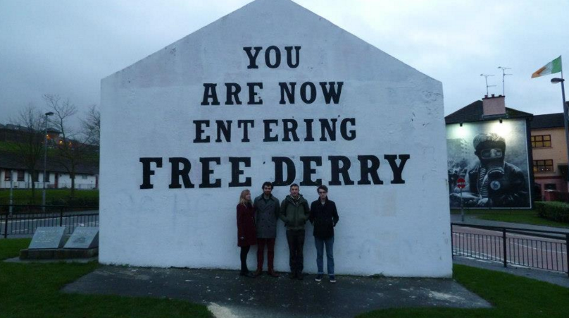 Me, second on the left, with some Scottish/English pals: (Derry  circa  2012)