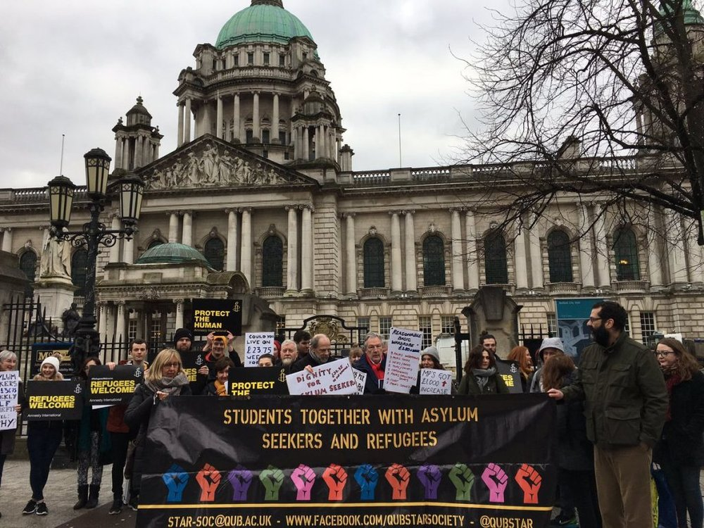 The Housing4All demo at City Hall on 5th February 2018.