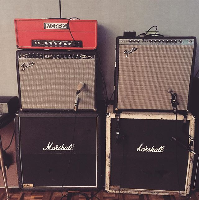 Playing some of these tonight with Supertoke. Can you guess which ones? #fender #morrisamps #marshall #fendertwice #superreverb