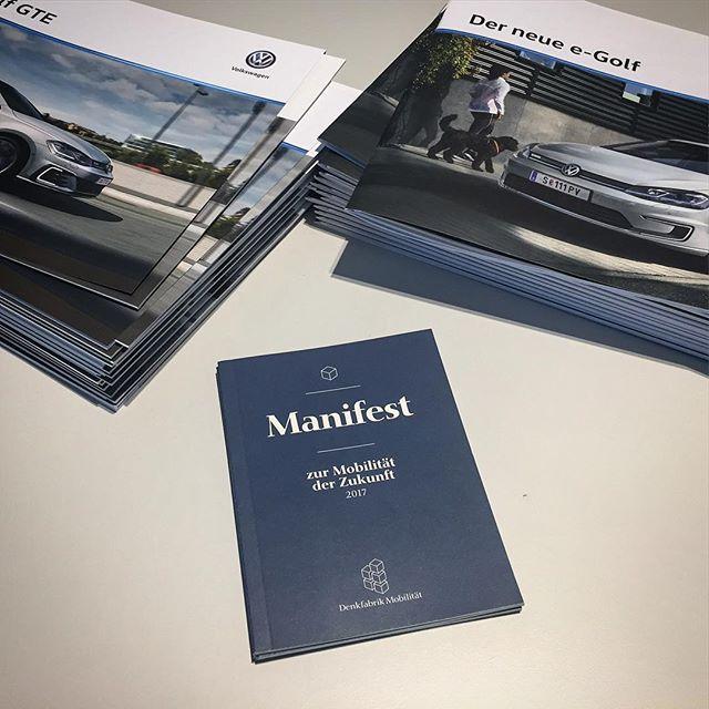 #denkfabrikmobilitaet Unser Manifest tritt an, den alten Platzhirschen das Narrativ der Mobilität der Zukunft nicht alleine zu überlassen!