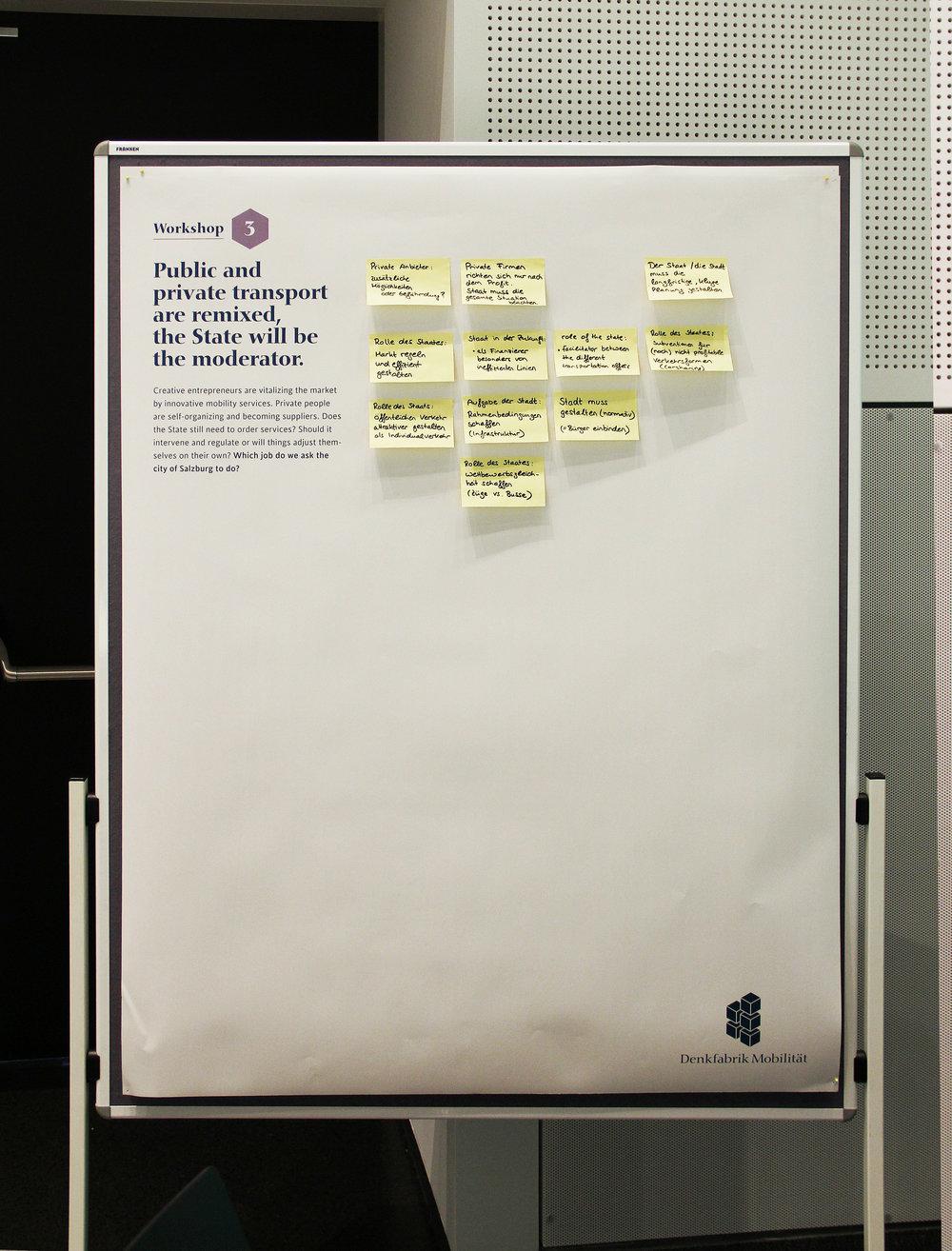 Saubere Arbeit: der Workshop 3 bereit zur Präsentation.
