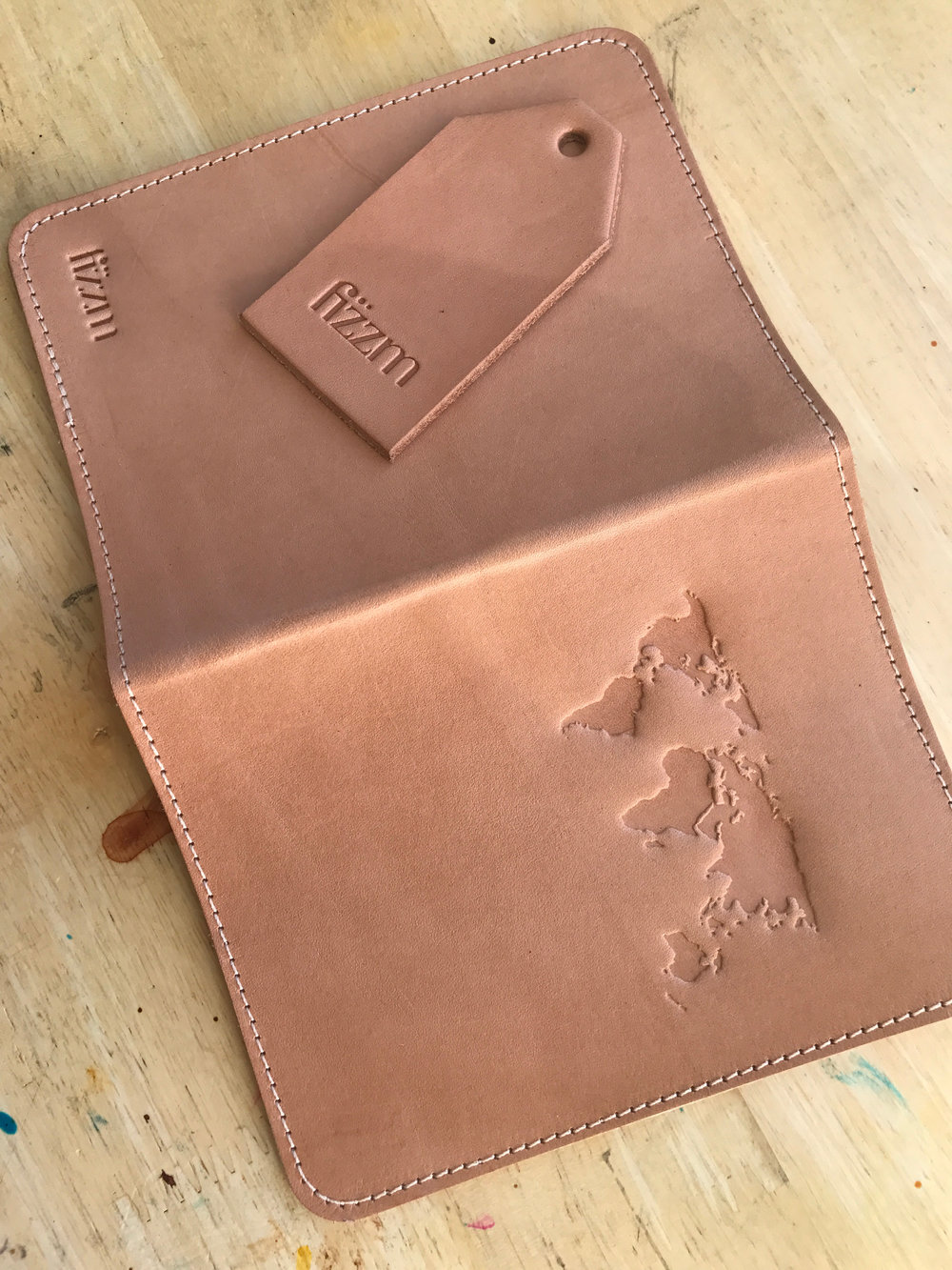 "Get The RAW LEATHER ""WORLD CUP"" PASSPORT HOLDER BY FIZZM"