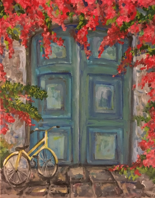 """We will be painting """"Bleu"""" at the May 22nd Paint & Sip!"""