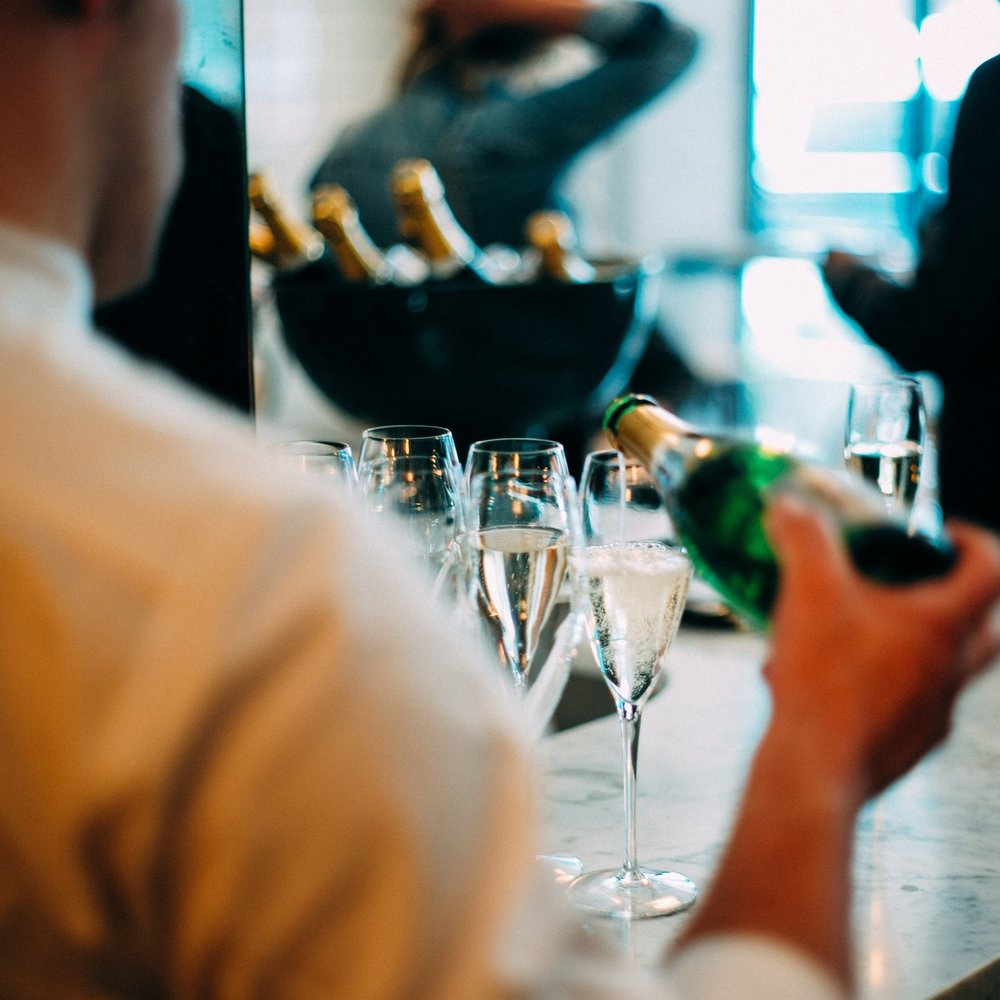 Champagne Reception - Delicious canapés and exceptional staff will impress the client and the boss! Our exceptional, trained staff, pride themselves on delivering wonderful service and a smile!