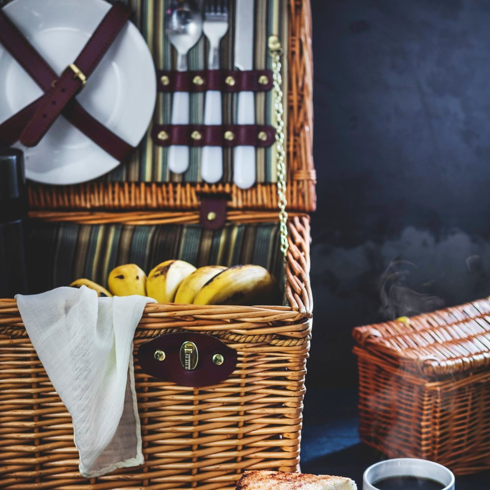 Picnics - Baskets & chilled boxes packed with deliciousness. We can deliver on site or to your home. Royal Ascot, Henley, National Trust events, Hampton Court, Wimbledon, and beyond.