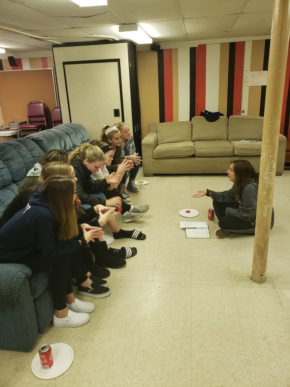 LISA SCHAEFER (RIGHT) IS ONE OF OUR HIGH SCHOOL SENIORS THAT COMES ON WED NIGHTS TO LEAD A SMALL GROUP!