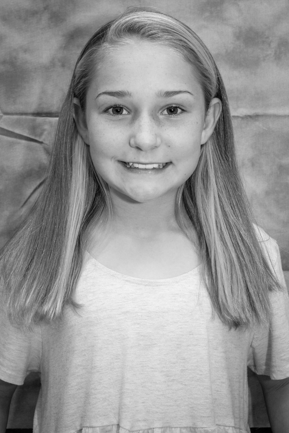 Veruca u/s, Oompa Loompa - Caroline a sixth grade theatre major who is so excited to be in the cast of Willy Wonka! She would like to thank her voice teacher, her parents, and of course, Ms. Starkey and Easter for making it happen.