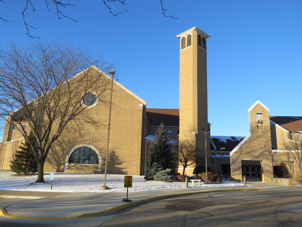 Kościół św. Franciszka z Assyżu - miejsce modlitwy i spotkania 26 grudnia 2017 roku Polonii i Polaków mieszkających w Des Moines, Iowa, i okolicy.