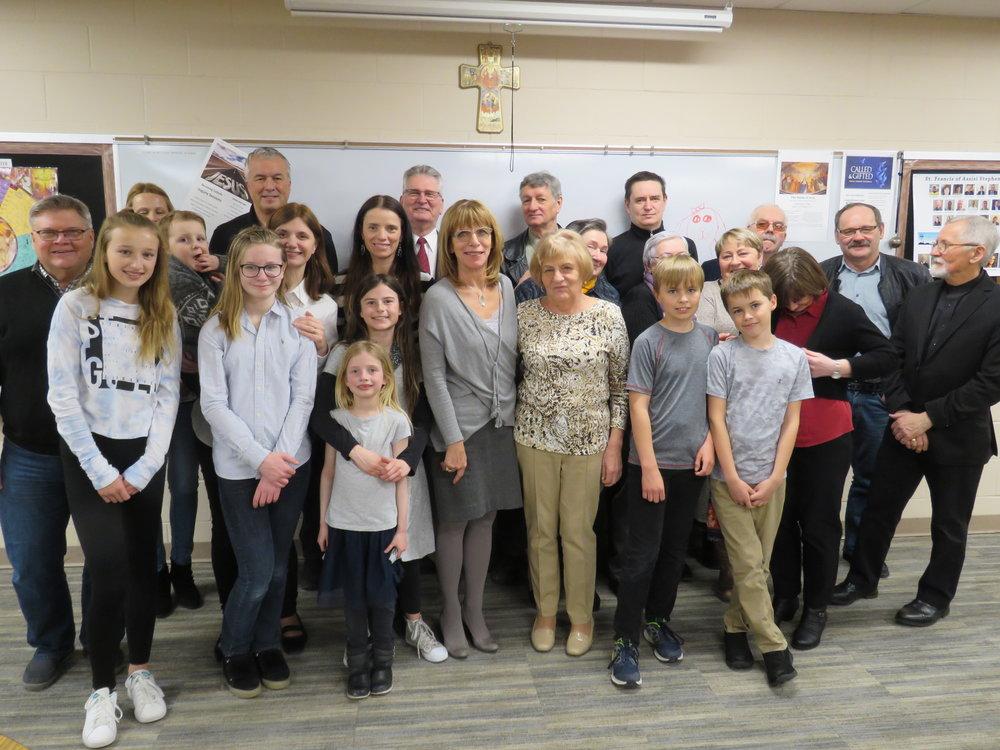 7 kwietnia 2018 - Uczestnicy spotkania po Mszy św. w kościele St. Fancis of Assisi, Des Moines, Iowa
