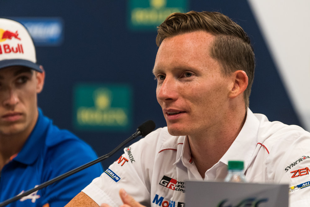 Mike Conway, 6 Hours of COTA Pre-event conference. Photo credit: WEC/Adrenal Media