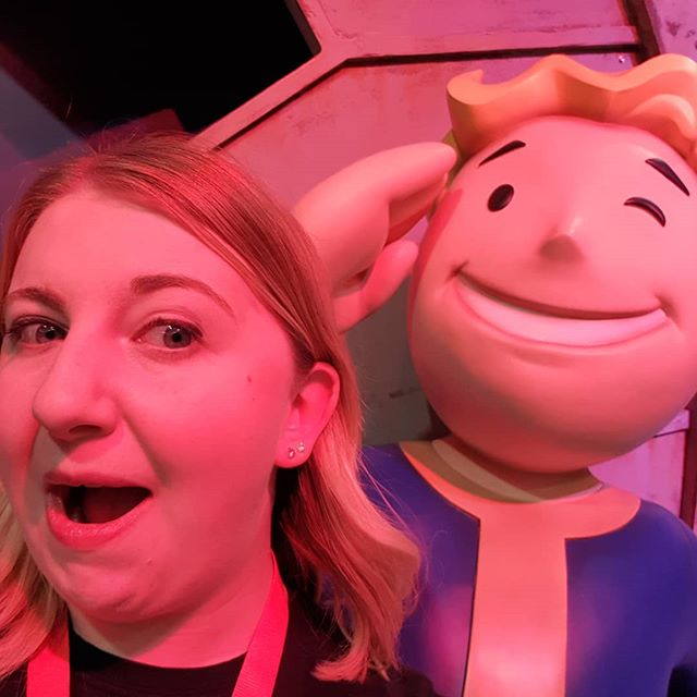 They let this guy outta the vault a little early! Having a blast at #EGX2018 - trying new games, meeting great people... I should do this every year!  #Fallout76EGX #GamingLife