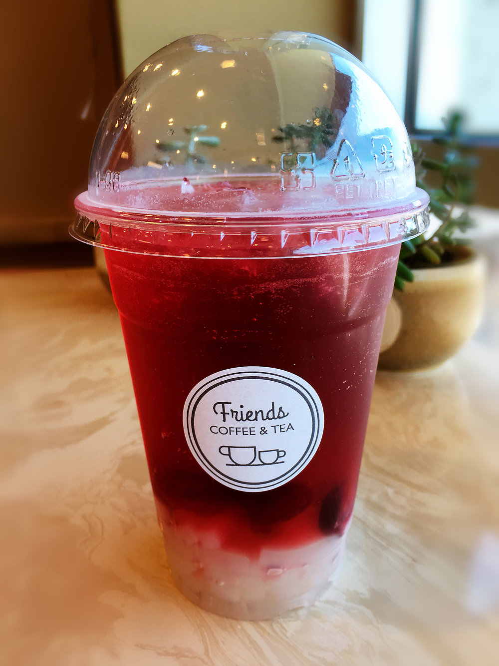 Cranberry Passion Tea with Lychee Jelly