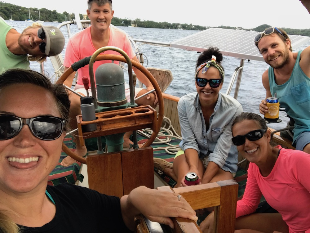 Some of our great cruiser friends enjoying a leisurely, FUN day sail in Tonga.