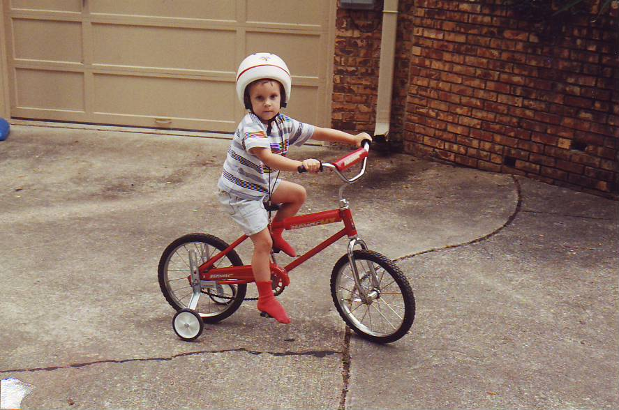Daniel's red bike best