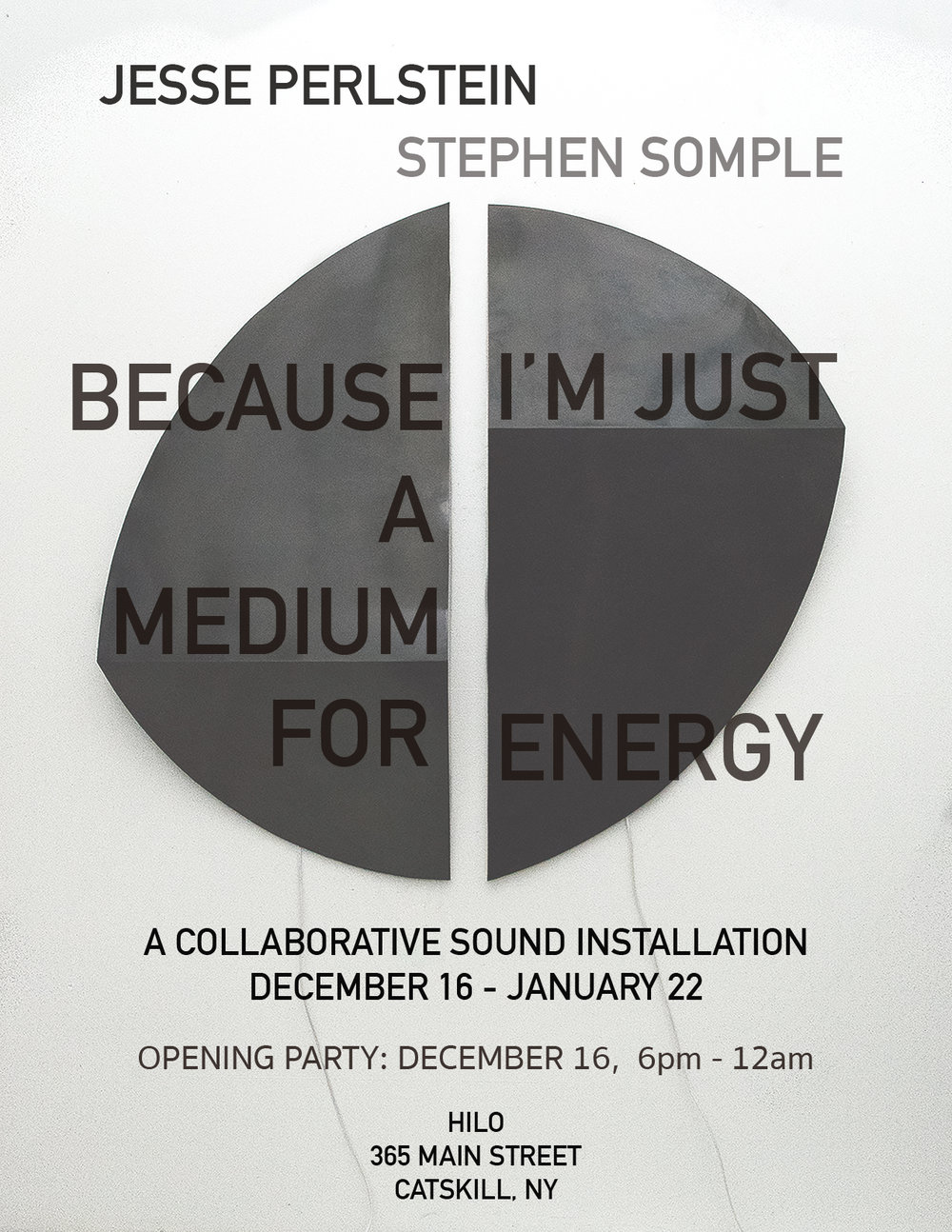 flyer for opening event (2017)