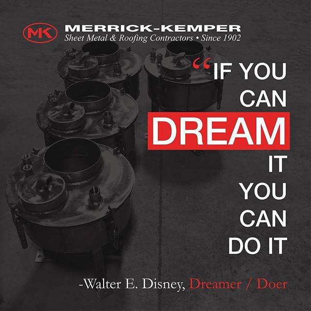 Dream big. (Stainless steel mixers, custom fabricated by Merrick-Kemper @merrickkemper ) #dream #disney #waltdisney #doit #dreamitanddoit #mixer #industrial #industrialdesign #fabrication #installation #motivation #motivationalquotes #sheetmetal #fab #install #louisville #louisvilleky #roofing #roofingcontractor #construction #plan #doer #makersgonnamake #merrickkemper