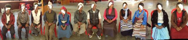 Panoramic photo of cataract patients
