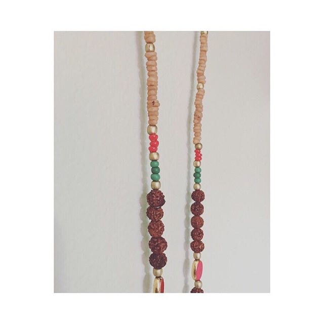 """Smoke"" from the Pegasus line. . #bodylovecare #bodylove #handmadenecklace #rudraksha #myrrh #africa #germany #india"