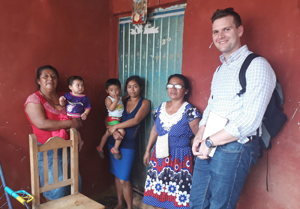 In this photo, Jonathan demonstrates cultural differences in height during a field visit with loan applicants in Veracruz, Mexico.