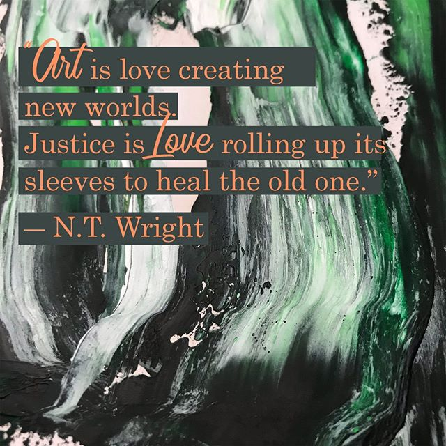 How do you bring art and healing into this world? Let us know in the comments below! . . . . #art #justice #God #christianquotes