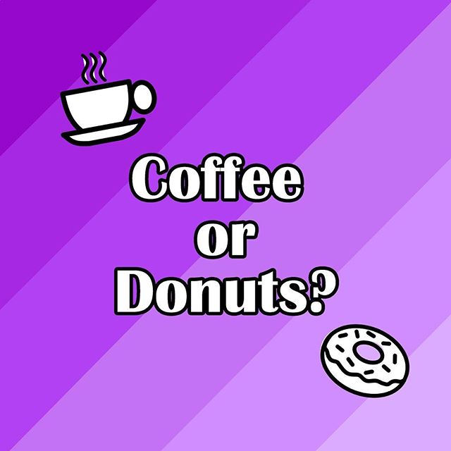 What is your go-to treat after church? . . . #sunday #church #coffee #donuts #sundayfunday #treatyoself