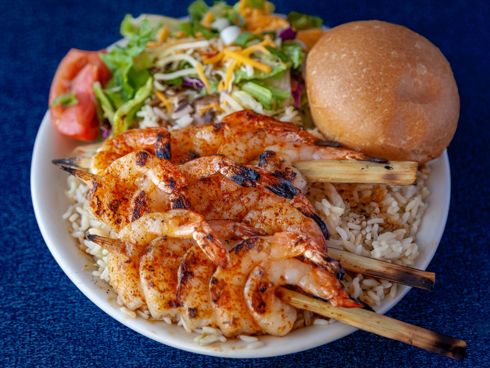 Shrimp Skewers Dinner