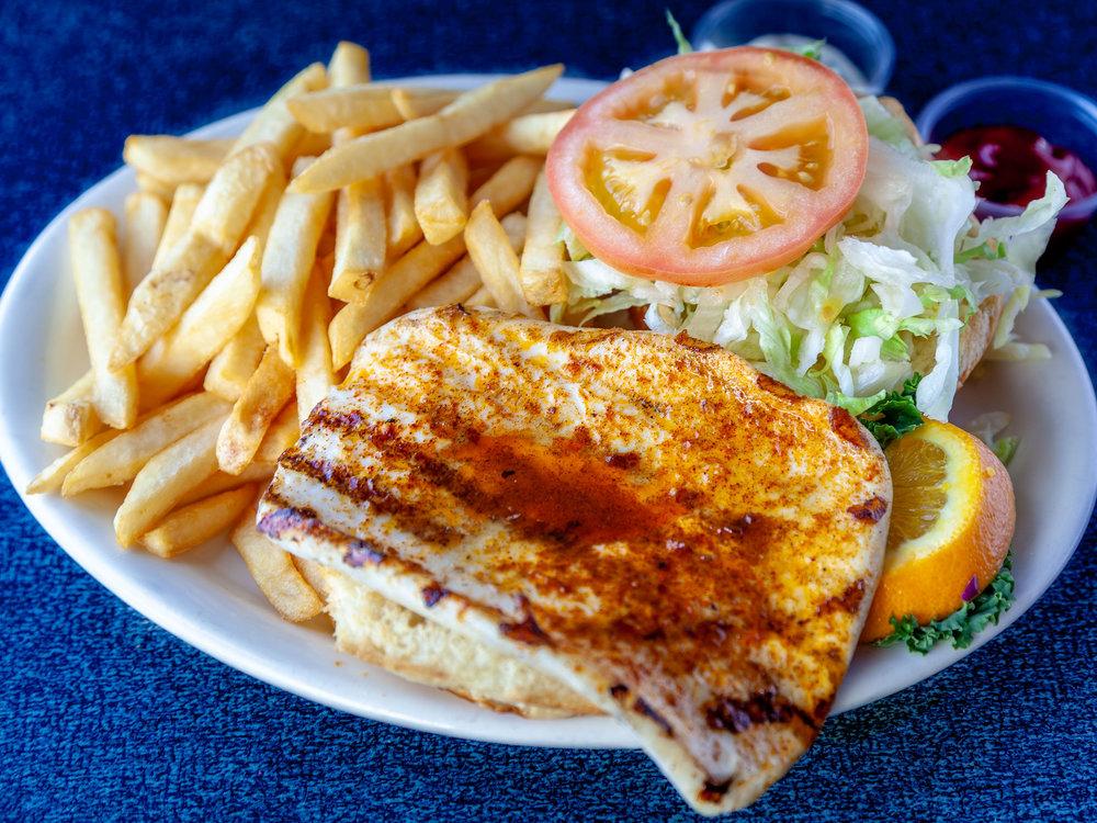Charbroiled Calamari Burger