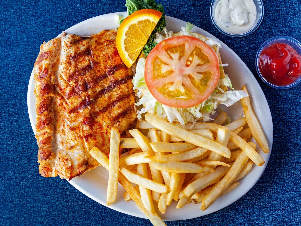 Charbroiled Fish Burger