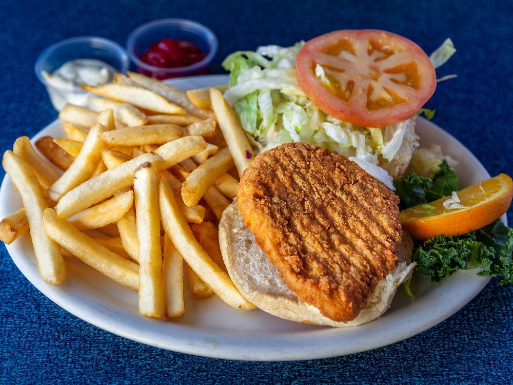 Deep Fried Chicken Burger