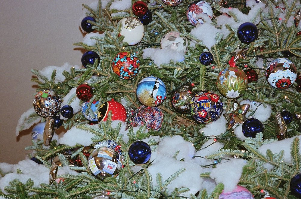 white house christmas tree ornament rebecca a stone danahy - House Christmas Ornament