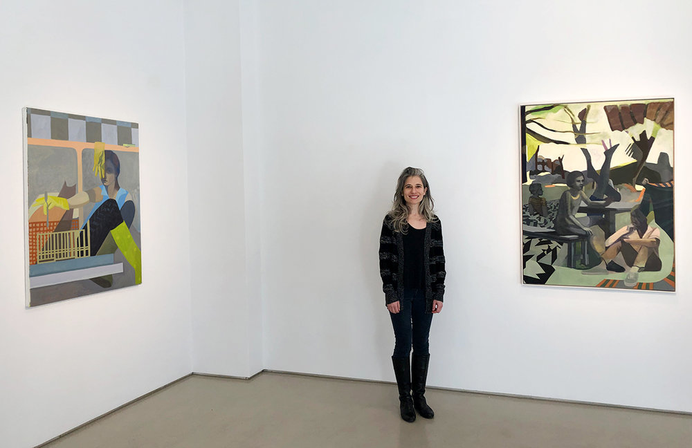 Sarah Lubin during her solo exhibition at Nancy Margolis Gallery in January, 2019.
