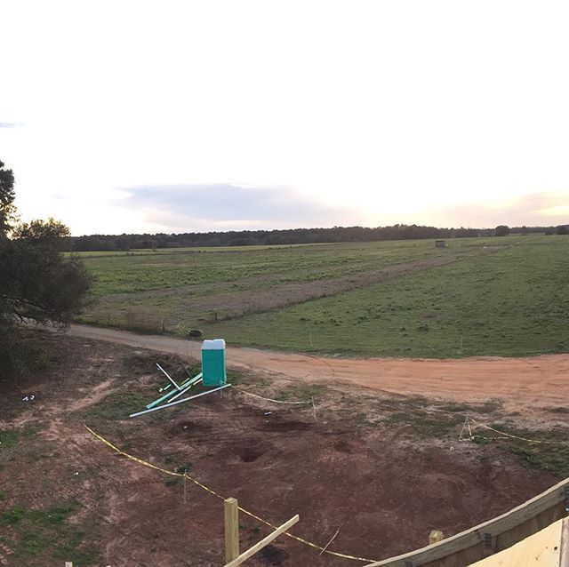 The view of most of the farm from the tallest building on the farm (the roof of our house). #natureninefarms #rooftopview #houseiscomingalong #pasturedpoultry #grassfinished #vegetables #marketgarden #smallfarm #organicallygrown #eatlocal #supportlocal #visitfoley #orangebeach #gulfshores #fairhope #southalabama #loweralabama #visitalabama #daphnealabama #easternshore #eatwell #foodmatters #baldwincounty #mobilealabama #pensacola #magnoliasprings