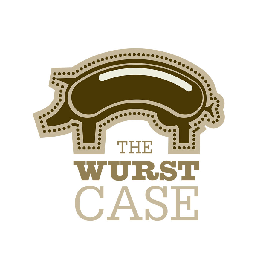 Logo for the Wurst Case, an artisan sausage brand