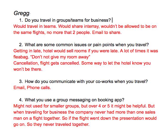 Gregg's Interview
