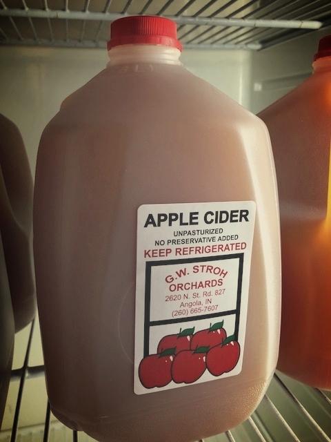 G.W. Stroh's famous apple cider